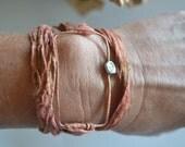 Be Square...It's Cool... Wrap Bracelet Sari Silk.
