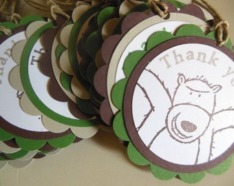 Camping Favor Tags, Camping birthday, Camoflauge favor tags, Masculine birthday - Set of 10 tags