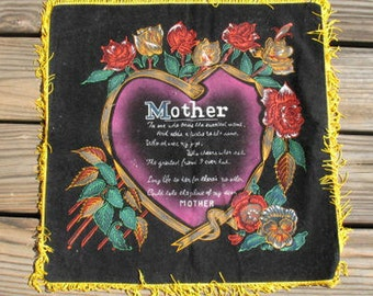 Mother's Day - Pillow cover for Mother 1960's collectible