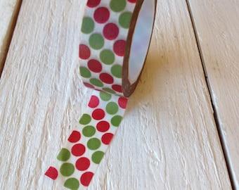 Red and Green Polka Dot Washi Tape