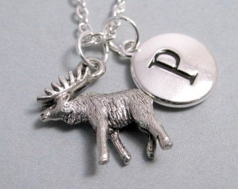 Moose Charm Silver Plated Charm Supplies