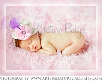 SLEEPING BEAUTY Pink White Lavender and Lilac Top Hat Mad Hatter Over the Top Photo Prop