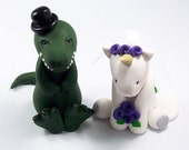 T Rex Cake Topper, Unicorn, Wedding Cake Topper, Dinosaur Cake Topper