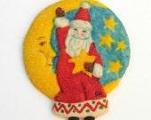 SIX Santa In the Moon Sugar Cookies Baked Goods