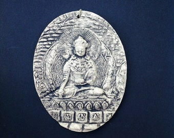 Buddha Ceramic Pottery Relief Sculpture Tile