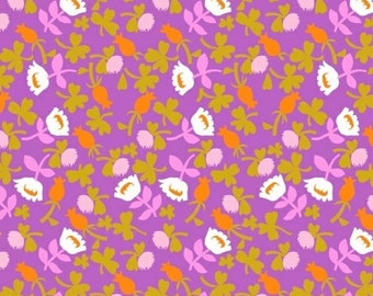 Heather Ross, BRIAR ROSE for Windham Fabric, Calico in Lilac, 31 X 44 inches