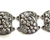 10 Jewelry connectors Antique silver connector links double loops jewelry metal findings  21mm x 21mm  497Y