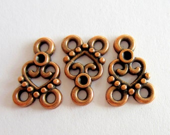 20 Copper connectors jewelry  Pendants Antique copper  jewelry findings  links 15mm x 11mm  674Y-R