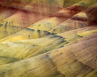 Landscape Photo, Abstract Photograph Nature Print Southwestern Style Santa Fe Red Orange Ocher Yellow nat88