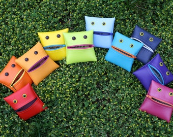 The Whole Shebang: Rainbow multipack of monster coin purses