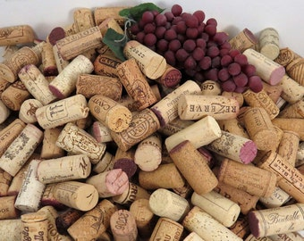 100+ Used All Natural Wine Corks, Excellent Variety, No Champagne or Synthetics, Fast Shipping
