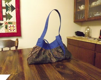 Camo and Royal Blue Sunday Purse