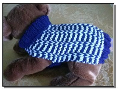 Dog Sweater Knitting Pattern For Beginners : Knit Dog Sweater knitting pattern Special Rib design