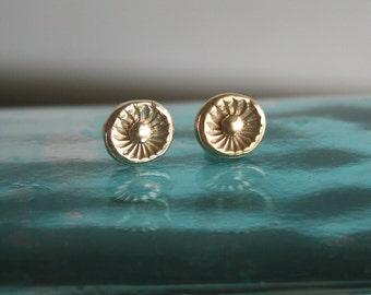Flower Stud Earings - Gold Stud Earrings - 18k Gold Plated
