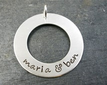 Unique Washer Charm Related Items Etsy