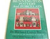 Bennington Pottery And Porcelain By Richard Carter Barret Vintage Book