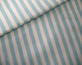 P0052 -Home decor twill cotton fabric -Blue stripes - by the yard