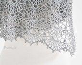 SILVER, Crochet shawl pattern pdf