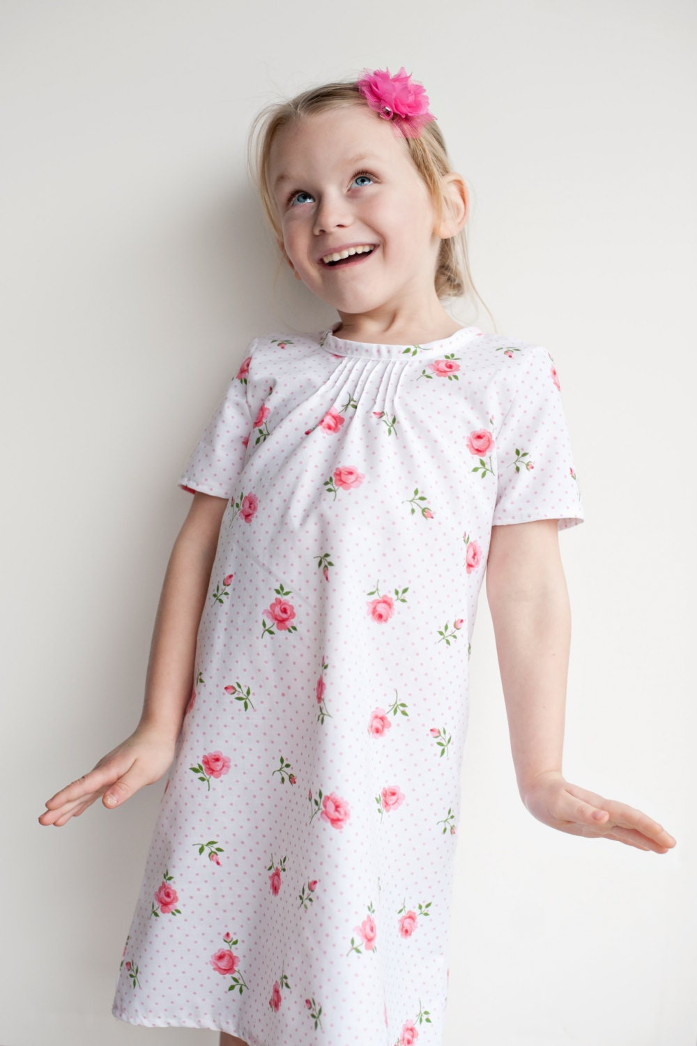 Pintuck blouse and dress pdf pattern and tutorial 6 12y easy sew this is a digital file jeuxipadfo Image collections