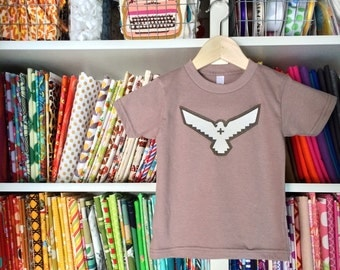 The THUNDERBIRD Tee - in Cinder on an Unisex American Apparel Organic Cotton Tee