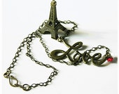 Valentine, Necklace, Love, Bib Necklace, Love Jewelry, Pendant, Love Letters, Brass tone