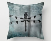 DRAGONFLY Throw Pillow Cases, Cushion Cases, with Custom Photographic Pillow, Photography Pillow Cover with insert 16x16, 18x18, 20x20