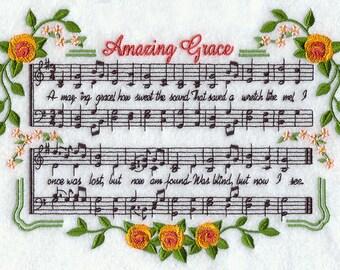 AMAZING GRACE - Machine Embroidered Quilt Blocks (AzEB)