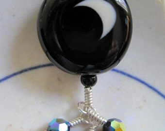 FULL/CRESCENT MOON Lampwork Necklace