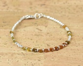 Brown Tourmaline AAA and sterling silver beads  bracelet
