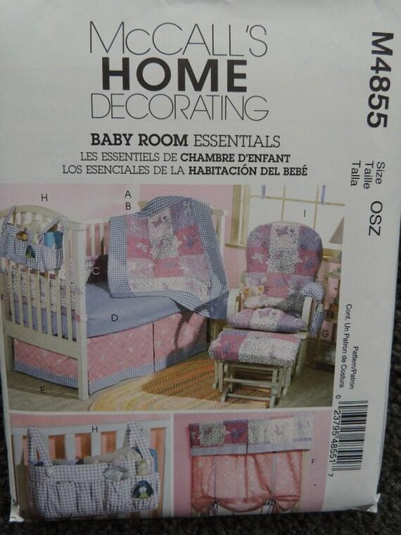 Baby Bedroom Essentials: McCalls M4855 Baby Room Essentials