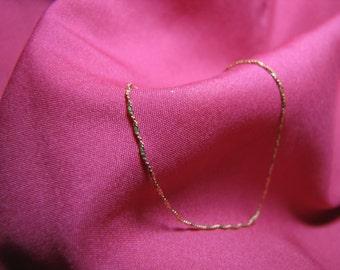 Beautiful 14Kt Gold Chain Bracelet  Mid-Century Gold Twist Chain Bracelet