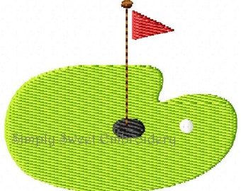 Golf Green Mini Machine Embroidery Design