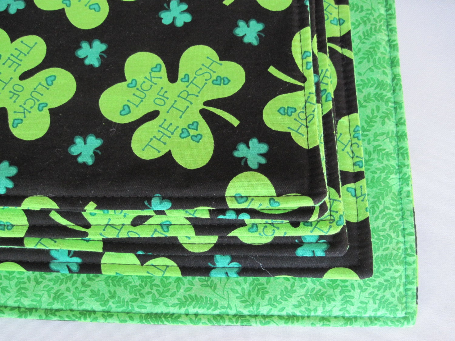 luck of the irish shamrock placemats st patricks day placemats