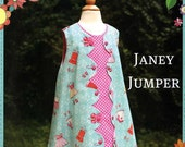 Janey Jumper Pattern by The Cottage Momma Size 6 months to 10 years Girls Dress