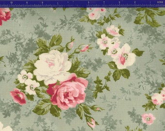 Yuwa Roses on Sage KS816836E Cotton Fabric