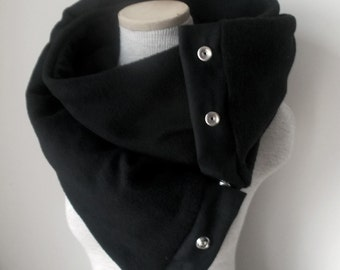 Unisex - BLACK Snap Scarf