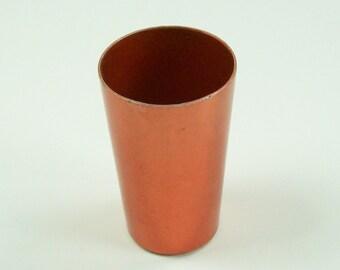 Shot Glass Aluminum Copper Colored Retro Orange Mid Century Vintage
