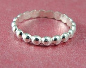 Silver Thumb Ring / Stackable Ring / Silver Bubble Thumb Ring