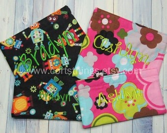 Reusable Large & Small Personalized Snack Bag- Pick Your Fabric