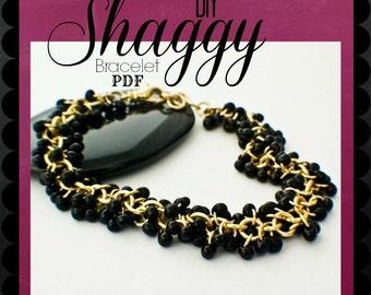 PDF Jewelry Tutorial -  Shaggy Beaded Bracelet Instructions