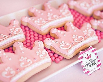 Princess Crown Cookies - 1 dozen