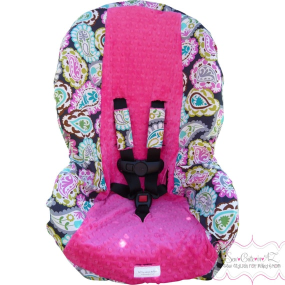 toddler carseat cover rocco paisley with hot pink. Black Bedroom Furniture Sets. Home Design Ideas