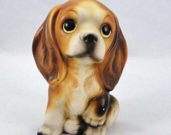 Vintage Spaniel dog statue, dog figurine