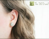 Military Camo Button Earrings - Your choice of camo