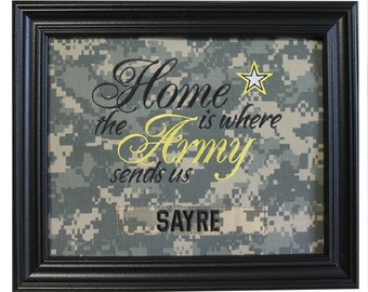 Home is where the Army sends us - ACU Fabric Mat