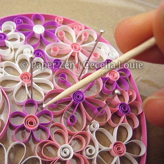 Flowers quilling patterns pdf tutorial from paperzenshop for Easy quilling designs step by step