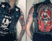 Kissin' Bombs frayed denim vest/top