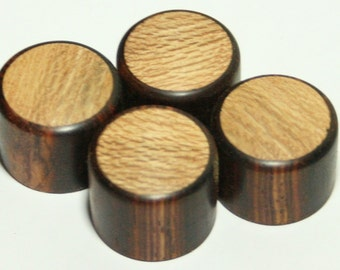 Set of 4 Cocobolo Guitar Knobs with Sycamore Inlay (7/8d x 5/8h)