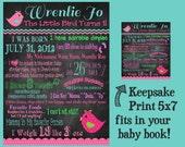 Birthday Keepsake Print 5x7 - For The Baby Book