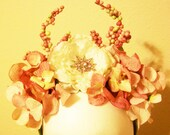 Persephone - Goddess of Spring - floral crown in white and rose - festival, fairy, costume, wedding